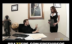 Prexy brunette secretary Kiera King seduces her bosses at work