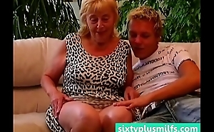 Chubby granny seduces younger guy