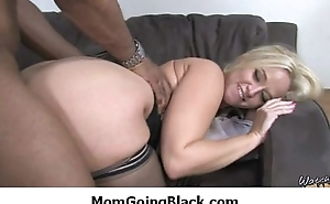 See my mom in front of black : Adorable hardcore interracial scene 10