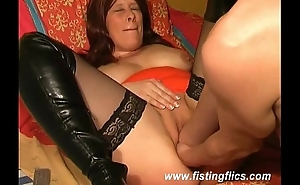 She needs two fists in her wide open pussy