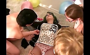 Party real amateurs make mincemeat of pussy of a imperil