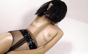 Gia in nylon encasement - pantyhose median pussy