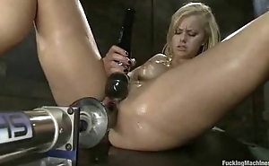 Tight, oiled up 19yr old blond, fuckin, squirting, cumming, screaming