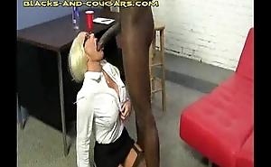 Big Black man for Hot Blonde Cougar