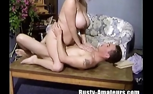 Busty Helena on threesome fucking