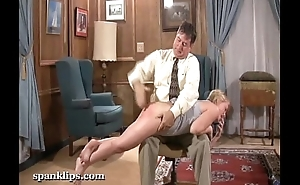 blonde gets their way ass spanked hard close to a hand