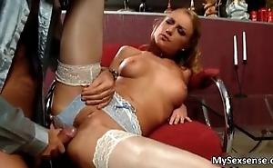 Blonde sexy babe Meg Lauren in sexy
