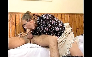 Nasty full-grown woman getting