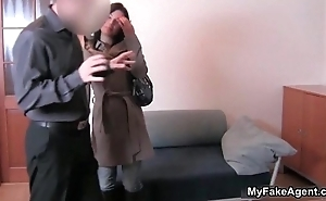 Cute brunette girl receives forced to strip
