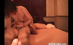 Asian MILF gets a big creampie