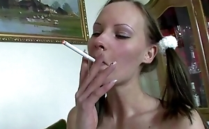 Smoking slut vagina fucked