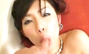 Japanese Floozy Masturbating