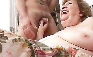 Hawt granny sucking young namby-pamby cock