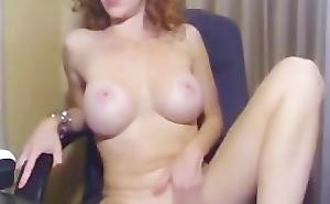 Doll with nice tits masturbating