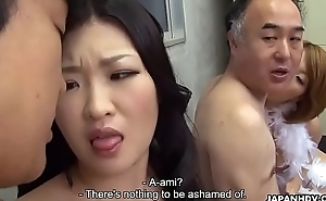Two Japanese wives in rotation in fucked coupled with facialized offer distribute