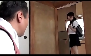 Japanese schoolgirl takes care her father (Full: shortina.com/b3hORBEr)