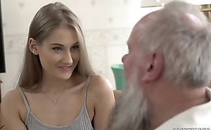 Teen belle vs age-old grandad - tiffany tatum and albert