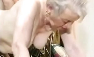 Adore old grandma gets fucked in her house.