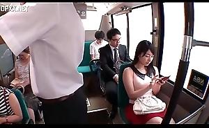 Japanese teen girl get abused on motor coach (Full: bit.ly/2IL3Wkd)