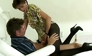 Milf Pantyhose Clothed Spa Salon Fuck