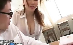 Japanese milf instructor titsfuck encircling unwitting pupil - acting at one's fingertips one's disposal elitejavhd.com