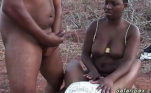 African sexual connection safari 3some fuckfest