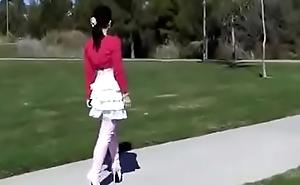 Best Female parent Flashing in Communistic Ballet Boots. See pt2 at goddessheelsonline.co.uk