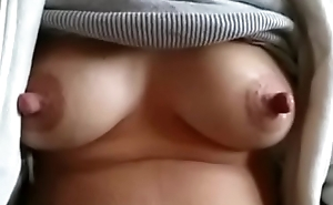 Desi Indian Mom with dripping Milk Knockers