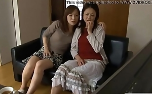 LesbianCums.com: Korean Stepmom Seduced Off out of one's mind Lesbian Legal age teenager