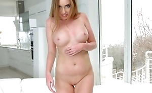 Kinky Russian girl gets the brush eager holes destroyed in threesome
