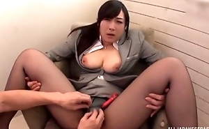Asian slut serves hard pecker without taking off say no to hose