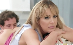 Headstrong flaxen-haired MILF gets caught fucking say no to best friend's son