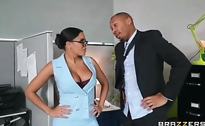 Exotic secretary with big juggs shagged by her taking boss