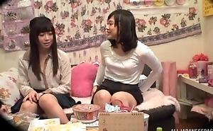 Adorable Asian lady pleasuring her faggot friend