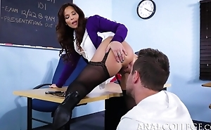 Nasty teacher seduced Overconfidence come by fucking say no to asshole