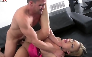 Seductive XXX babe with beamy boobs gets anal from Toni Ribas