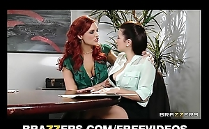 Median redhead lesbian convinces her co-worker to experiment