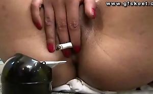 Ciciamor shows masturbation and  smoking wet crack