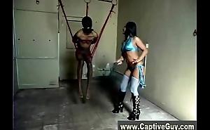 Mistress femdom hot skank gives hot handjob
